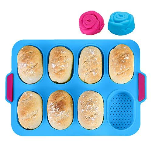 KeepingcooX® Mini-Baguette-Backblech, 34 x 24 cm, Antihaft-Lochblech   Brot Crisping Tray, Laib Backform, French-Bread mit köstlichen knusprigen Krusten, mit...
