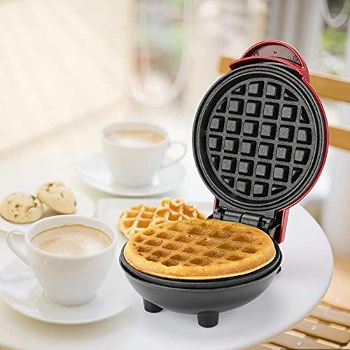 Punvot Waffeleisen, Waffelautomat Sandwichmaker mit Antihaftbeschichtung Rund Waffle Maker Elektrischer Waffeleisen Kleine Waffeleisen für Kinder Mini...