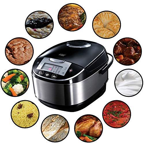 Russell Hobbs Multicooker 5,0l (digitales Display + Timer), 11 Kochprogramme (Schongarer, Dampfgarer, Slow Cooker, Reiskocher, Joghurtbereiter etc.),...