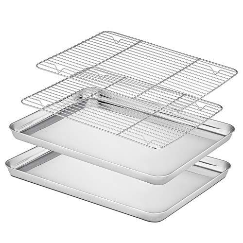 Velaze Brat- und Backblech mit Küchengitter (Backblech mit Küchengitter 4 Set BT)