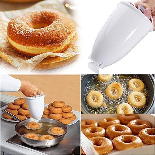 Happy Donut - Donut Maker - Donut Backform - Teigspender Edelstahl Pfannkuchen Teigspender für Donuts - für köstliche Mini Doughnuts - selbstgemachtes...