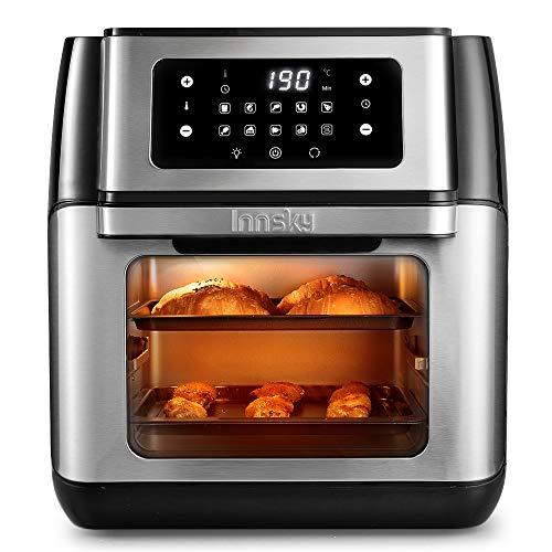 Innsky Heißluftfritteuse Heißluft-Backofen 10L, 1500W Mini-Backofen, 10 in 1 Heissluftfritteuse mit digitalen LED-Display, Obst Dehydrator, Barbecue, 6...