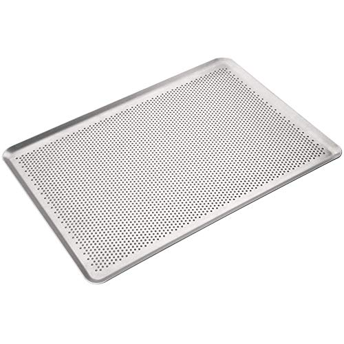 Erreke - Backblech, Aluminium, Backblech 46x33 cm, 2 mm Dicke, Professionelle Qualität, Hergestellt in Europe (Aluminium Mangan)