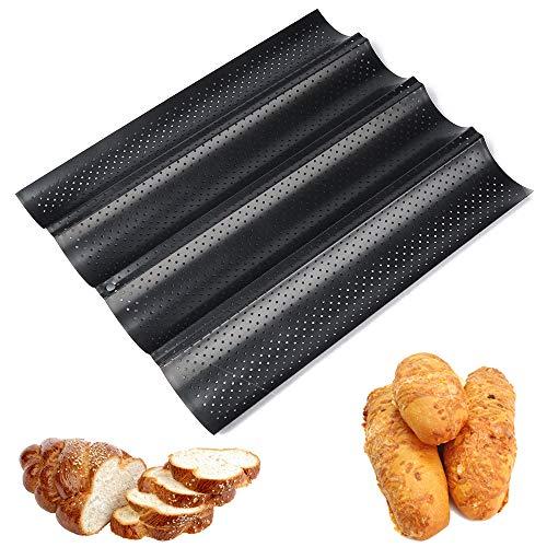 Gurxi Baguette-backblech Baguetteform Baguetteblech French Bread Backblech mit Antihaftbeschichtung Baguette Baguetteblech Französisch Brot Backblech Baguette...