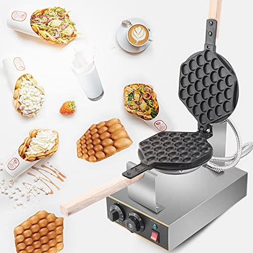 TTLIFE 1400W Edelstahl Egg Waffle Maker, 30 Stück Professionelle Bubble Egg Waffeln Kuchenmaschine Waffel Baker 180 ° Drehbar, Für Zu Hause Milk Tea Shop...