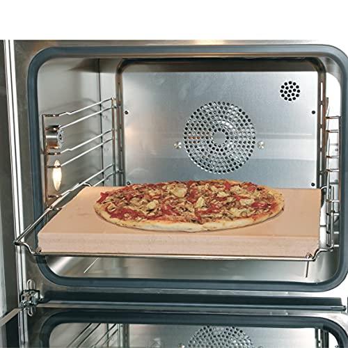 Europart 10021639 Pizzastein Brotbackstein Schamottstein lebensmittelecht 400x300x30mm universell einsetzbar Backofen Ofen Herd Grill für Pizza Brot...