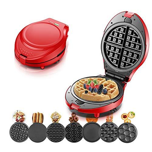HRRH Multifunktions-Waffeleisen, elektrische Donut-Eistüte-Grill-Kuchen-Ofen-Wannen-Ei Ette-Maschine 7 veränderbare Platten
