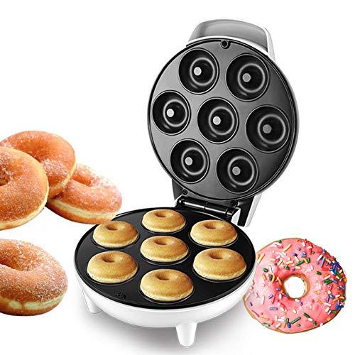 Blusea Donutmaker, Elektrische Donut Maker, Antihaftbeschichtung Frühstücksmaschine Kinderfreundliche für Frühstückssnacks Desserts