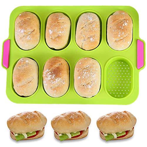BESLIME Mini Baguette Backblech, für Silikon-Muffins und Brötchen, Muffin- und Baguetteformen, Antihaft/Spülmaschinenfest - Mikrowellengeeignet