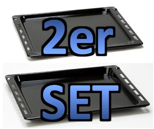 SET bestehend aus 2 Teilen Backblech 16mm Höhe (481241838128/481010683241)+Backblech 27mm Höhe (481241838138/481010683239)-passend für diverse Herde von...